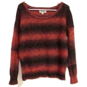 UO Ecote Maroon Striped Knit Sweater